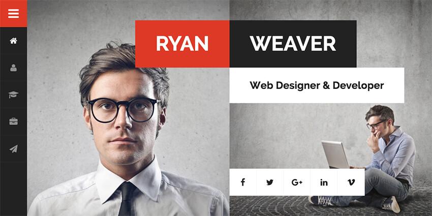 Divergent Personal Resume WordPress Theme