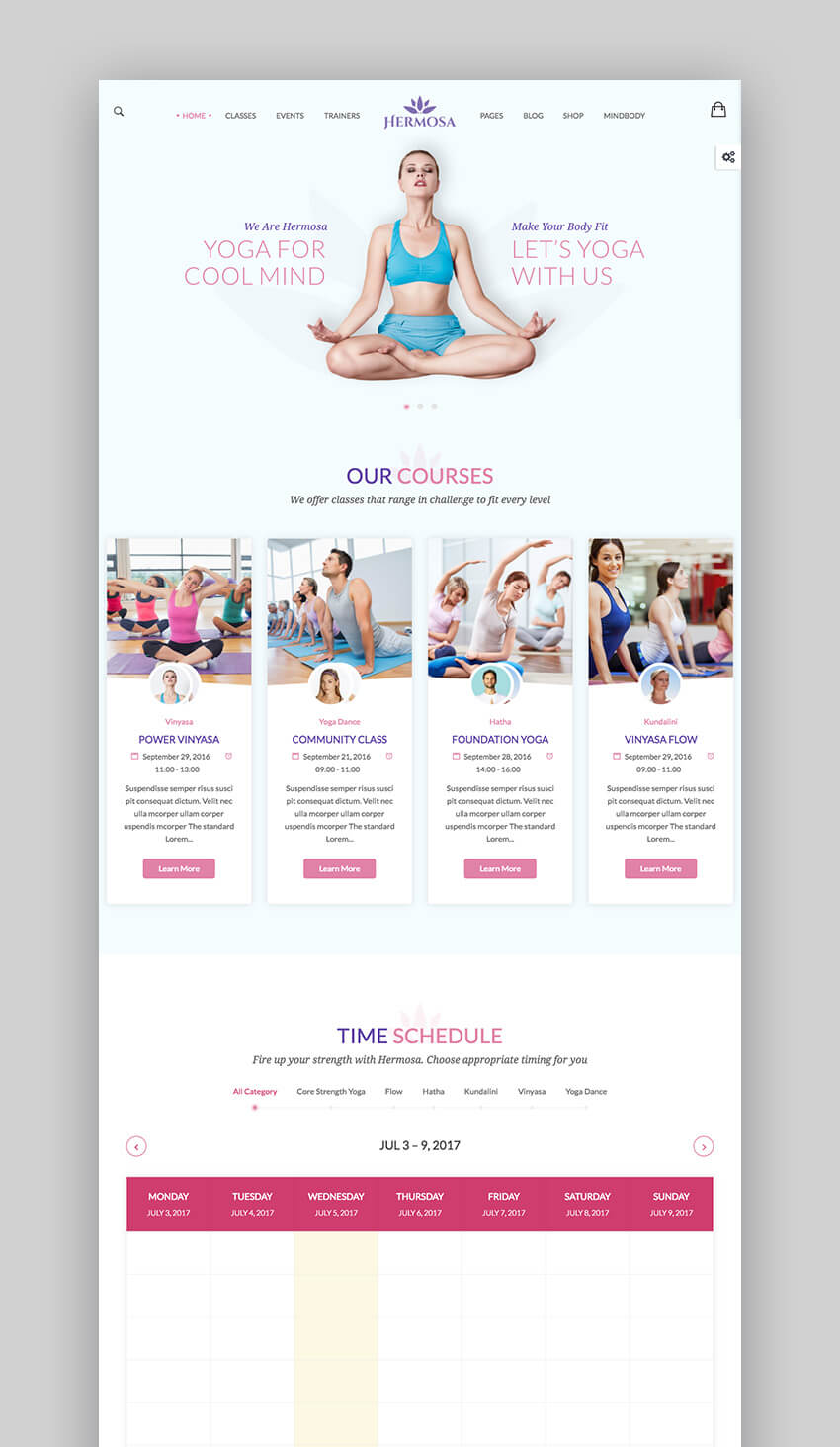 Hermosa health and beauty WordPress theme