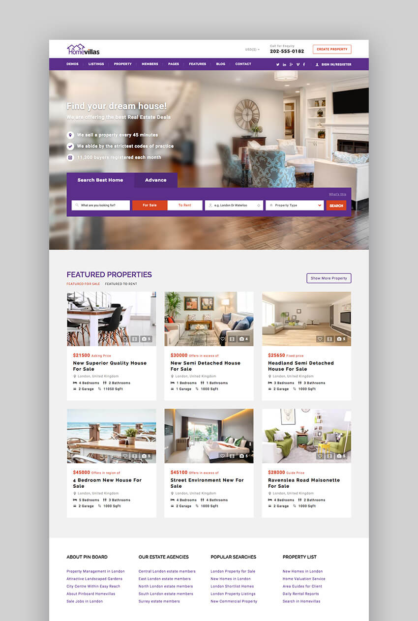 Home Villas Responsive WordPress Real Estate Theme