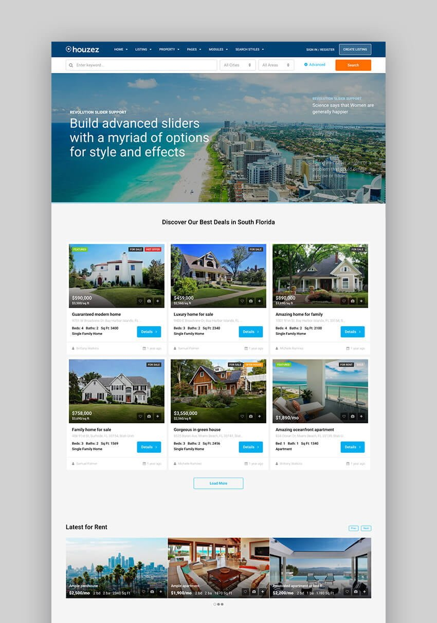 Houzez Modern Real Estate theme for WordPress