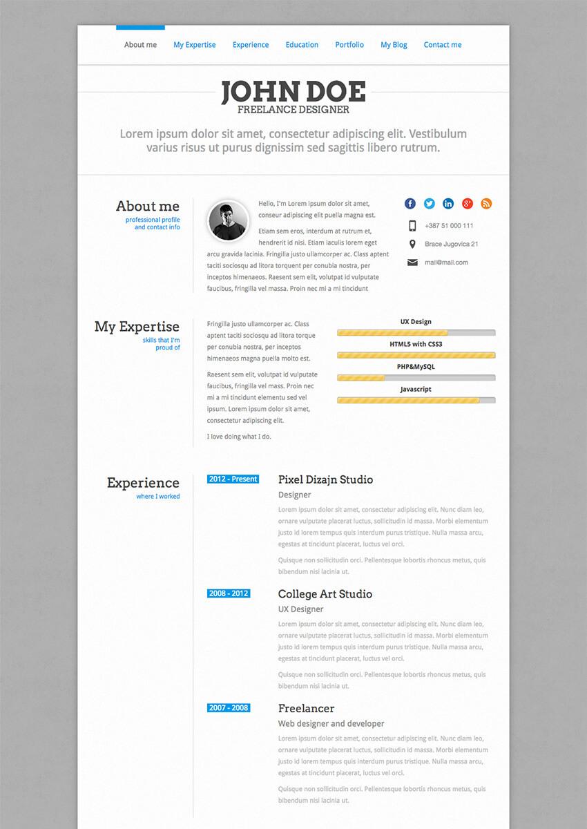 PerfectCV - WordPress CV Resume Theme