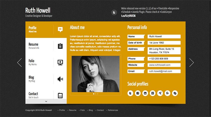 Prestige Resume WordPress Theme