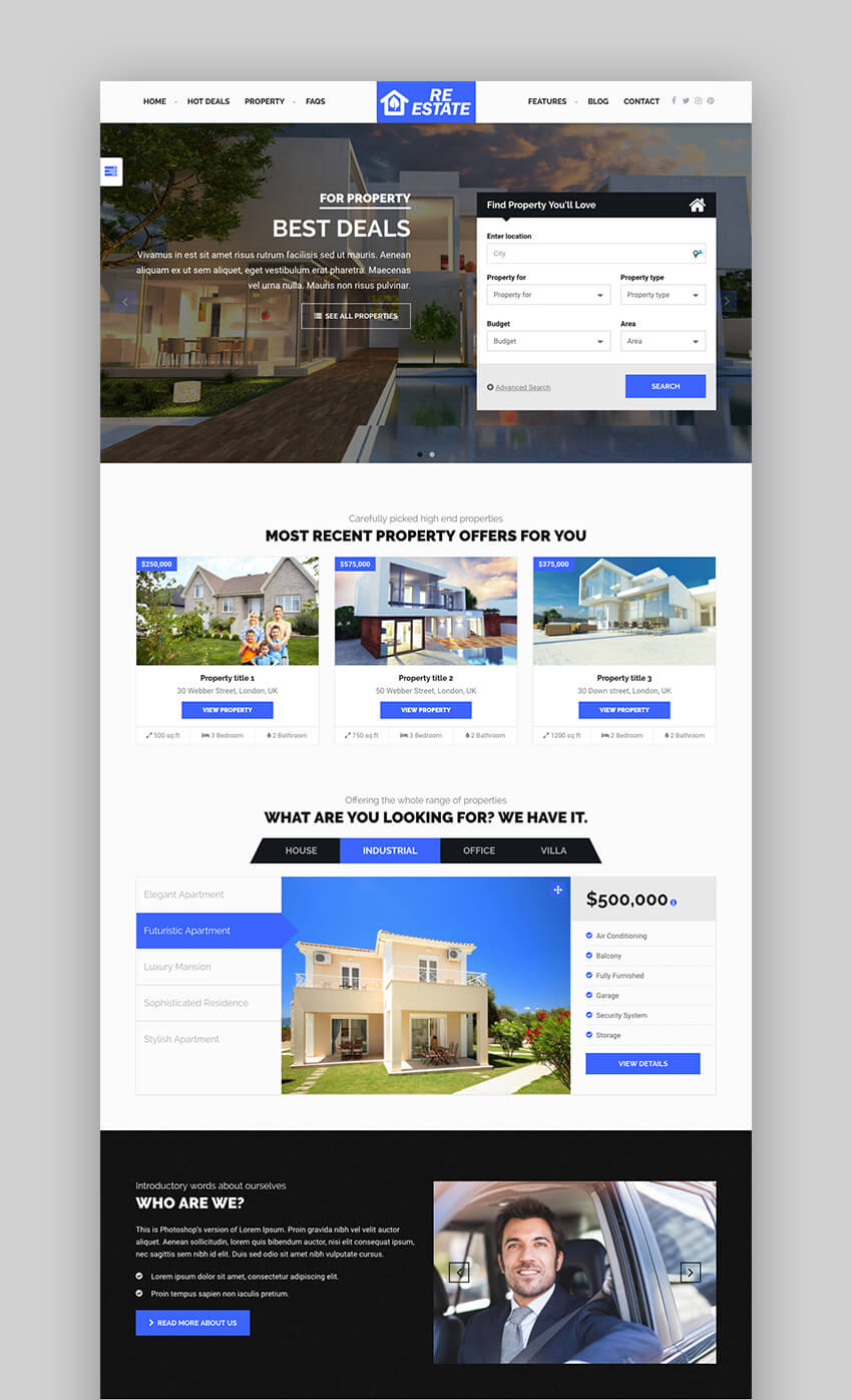 ReEstate Powerful Real Estate WordPress Theme