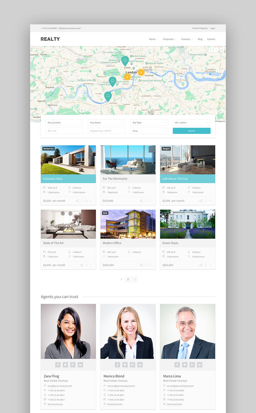 Realty Full Fledged Property Management Theme