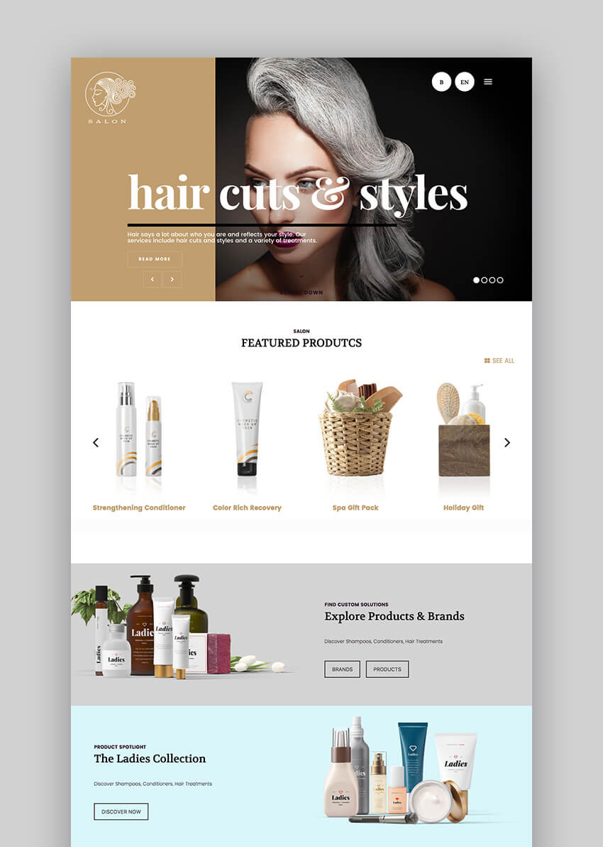 Salon WordPress Beauty Spa Website Theme