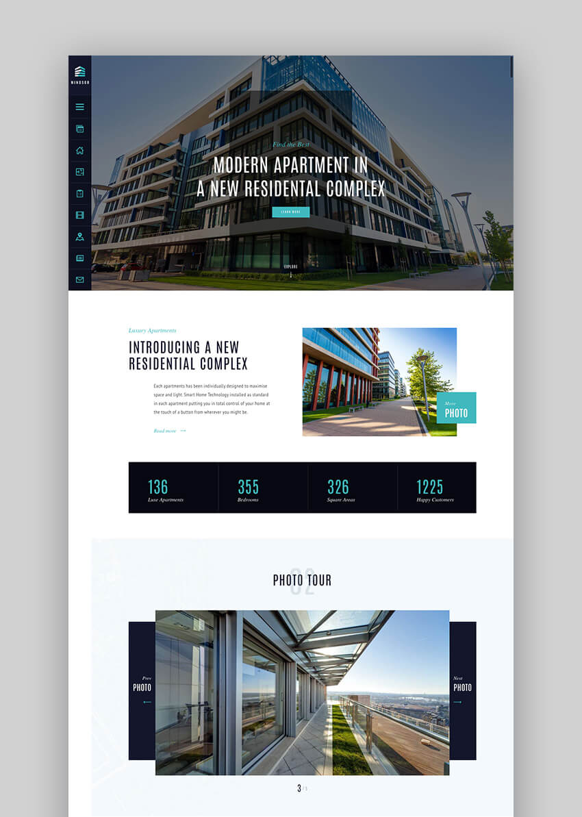 Windsor single property real estate WordPress theme
