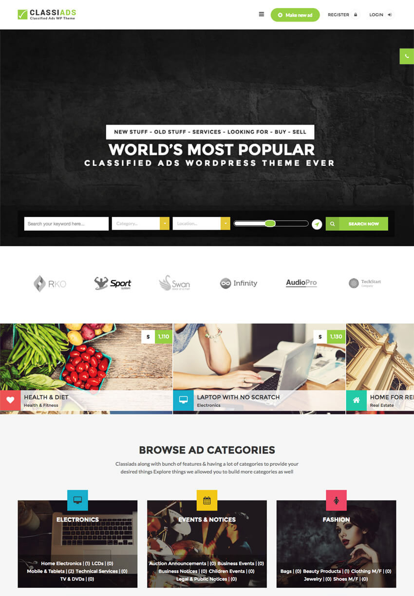 Classiads Classified Ads WordPress Themes