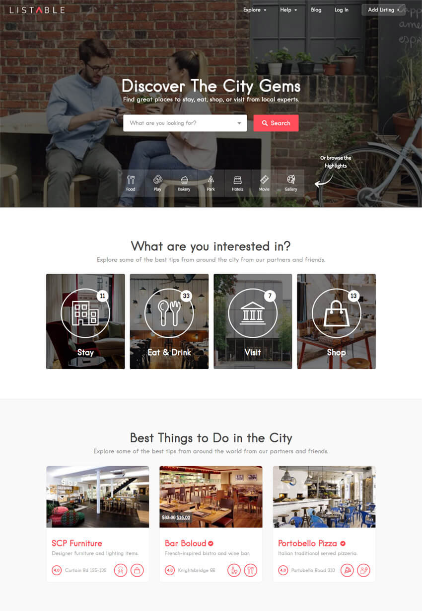 Listable Business Directory WordPress Listing Theme