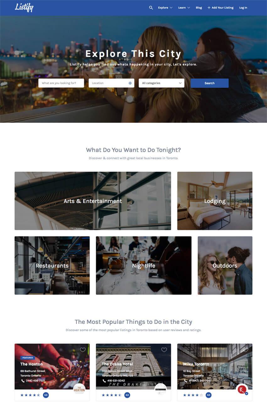 Listify WordPress Business Directory Theme