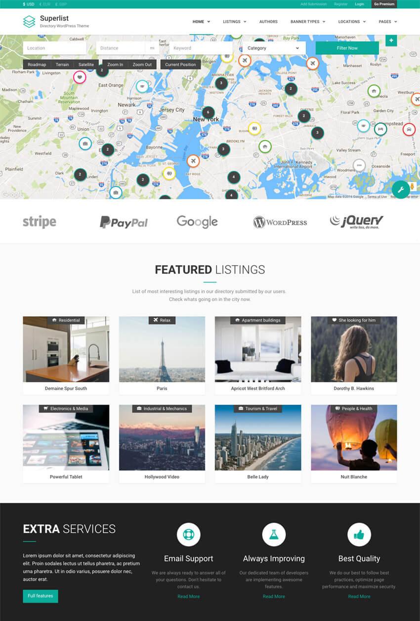 Superlist Directory Business WordPress Theme