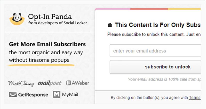 Opt-In Panda for WordPress