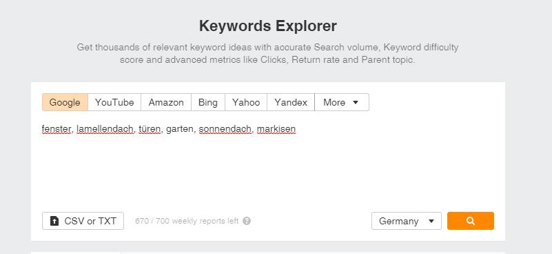 keywords explorer ahrefs |